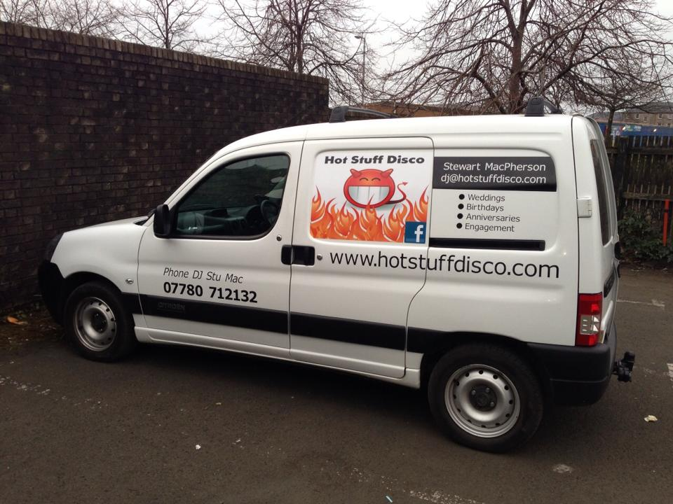 fizz designs hot stuff disco vehicle graphics design print